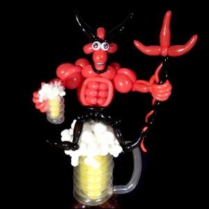 Le diable en ballons sculptés
