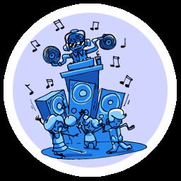 anniversaire ados pré-ados boom musique danse boîte de nuit