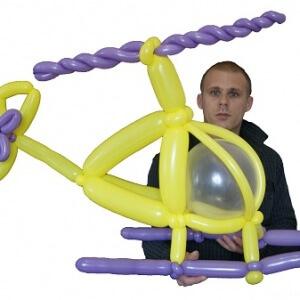 helicoptere en ballons sculpté