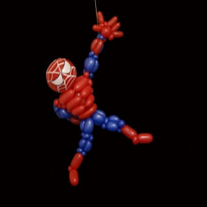 spiderman en ballon sculpté